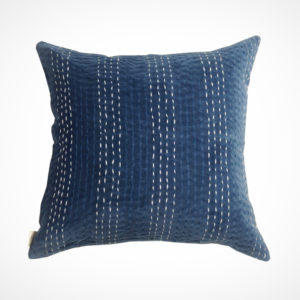 Coussin NavyStripe face ClaireBeaugrand