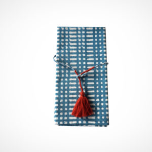 Serviette de table Billy bleu Claire Beaugrand