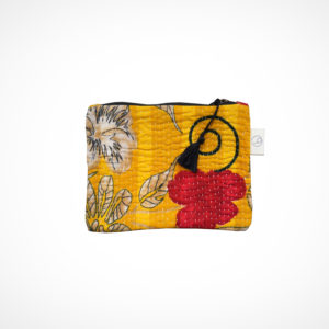 Pochette kantha Small Jaune Claire Beaugrand