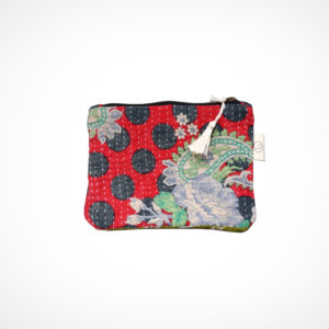Pochette kantha Small Rouge Claire Beaugrand