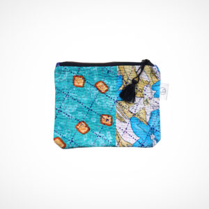 Pochette kantha Small turquoise Claire Beaugrand